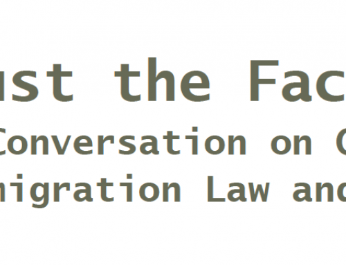 Presentation: Just the Facts: A Conversation on Current Immigration Law and Policy